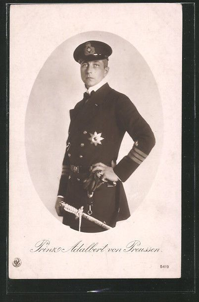 Prinz Adalbert Von Preussen in Navy Uniform with Dagger WWI
