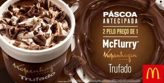 Cupom McDonalds - 2 McFlurry Trufado pelo Preço de 1