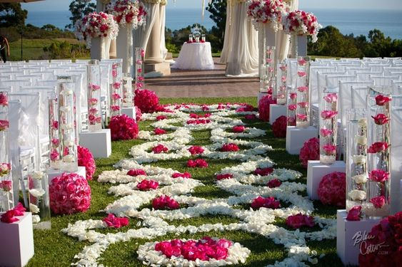 a world of flowers. romantic wedding settings