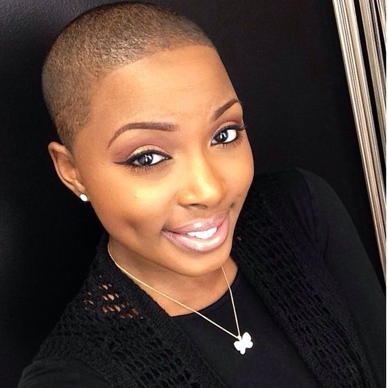 Low Cut Hairstyles For Black Females: Natural: Bald, Twa, Brush Cuts, Fades, Afros
