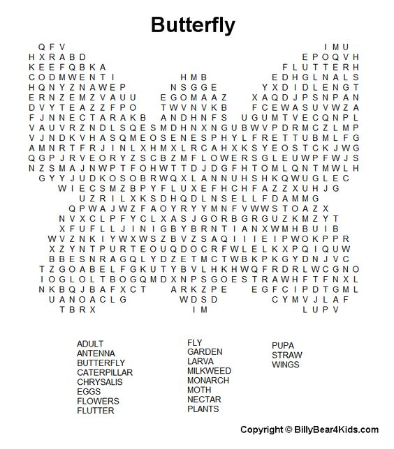 Hard Word Search Puzzles Worksheets