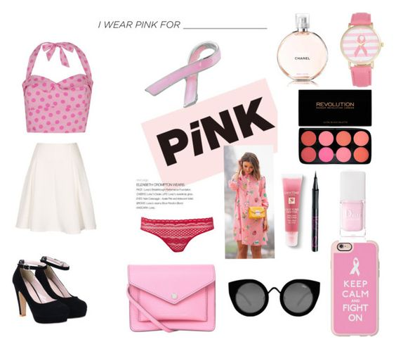 """""""I wear pink for hope"""" by cris-conde ❤ liked on Polyvore featuring Olivia Pratt, Marc by Marc Jacobs, STELLA McCARTNEY, Casetify, Quay, Lancôme, Barry M, Christian Dior and Bling Jewelry"""