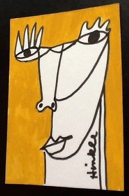ACEO-abstract-portrait-Painting-Original-art-raw-outsider-illustration-ink-pop
