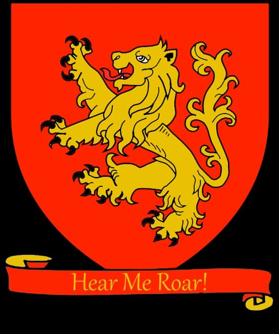 """House Lannister Coat of Arms """"Here Me Roar!"""" Game of"""