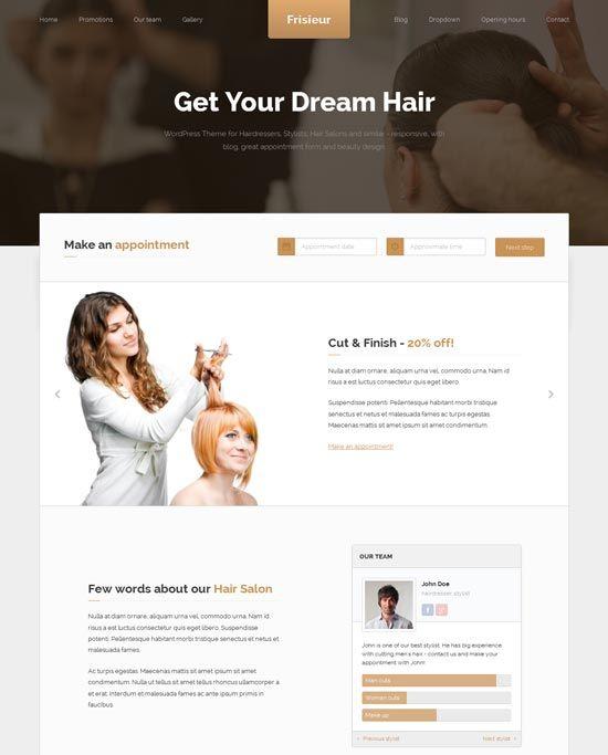 Frisieur-WordPress-Theme-Hair-salons
