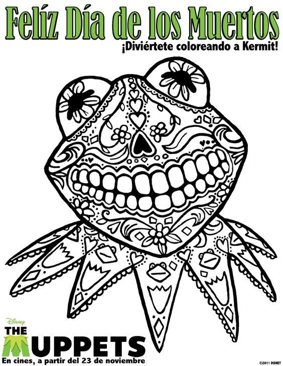el dia de los muertos coloring pages - De Los Muertos Coloring Pages