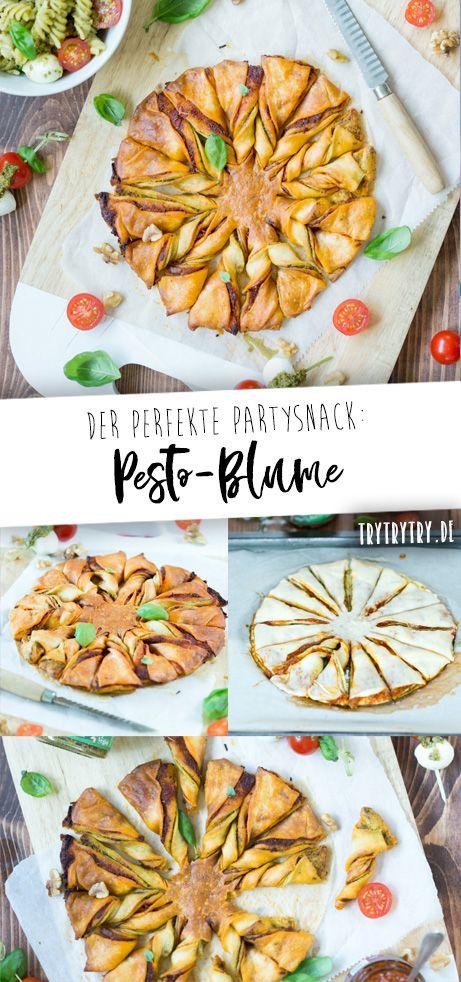 Pesto-Blume und Grill-Snacks mit Allos Hof-Pesto