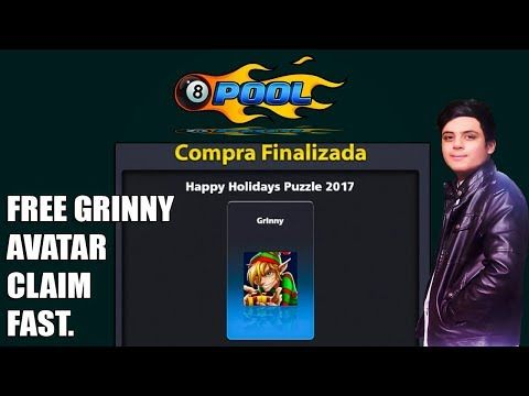 8 Ball Pool Free Grinny Avatar Trick Grab It Holidays Quest No3