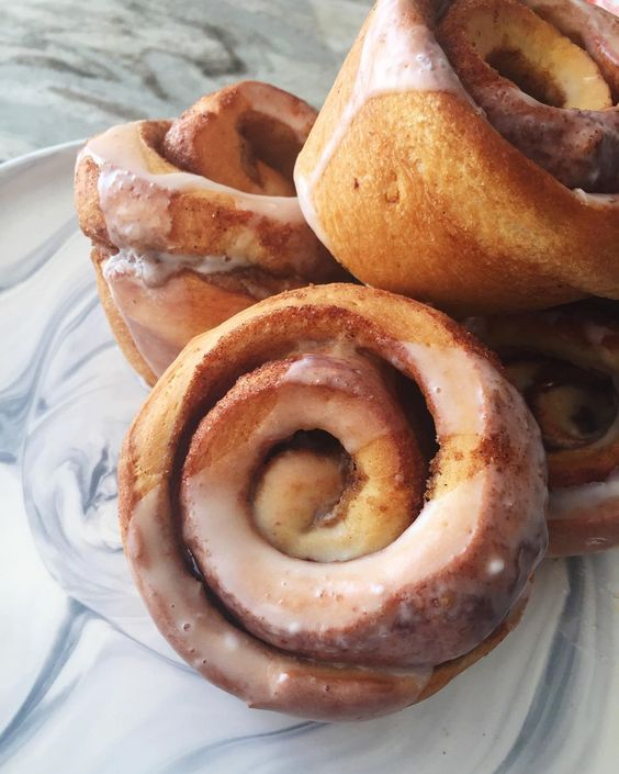 Tried a new cinnamon bun format today... And it's heavenly.  Stop by for the Wednesday special of buy two get the third free! We are open until 6pm!  via GoldenrodPastries.com