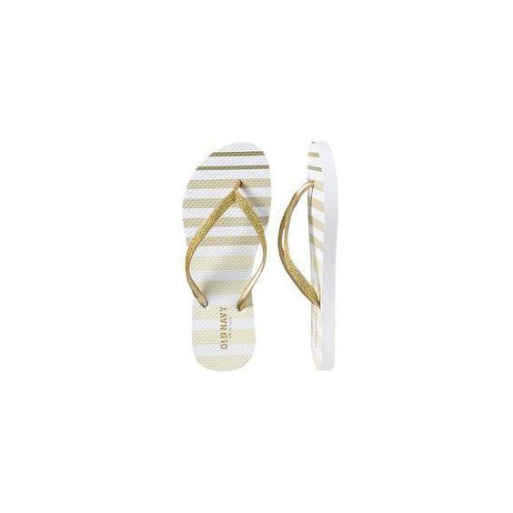 Women's Printed Flip-Flops via Polyvore