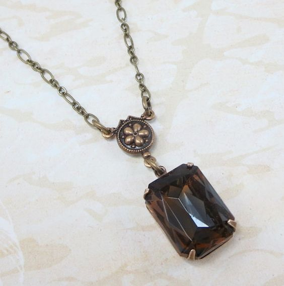 Topaz Sapphire Blue Necklace Pendant Amber by dfoxjewelrydesigns