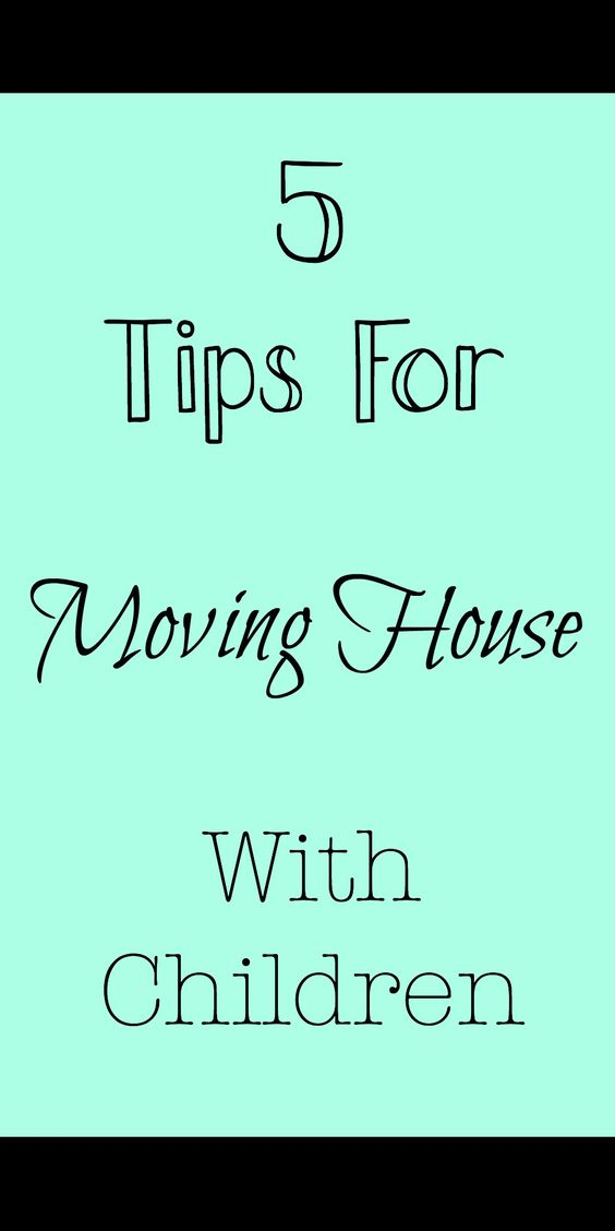 5 tips for moving house with children