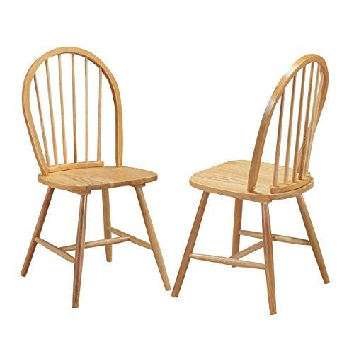Giantex Set Of 2 Windsor Chairs Country Wood Chairs Vintage