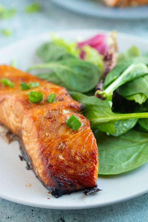 Marinated Air Fryer Salmon