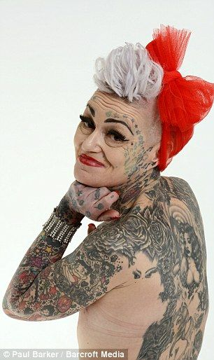 Amanda is proud of her tattoos and never covers them up - apart from when she visits her 80-year-old mother. Description from mailonsunday.co.uk. I searched for this on bing.com/images