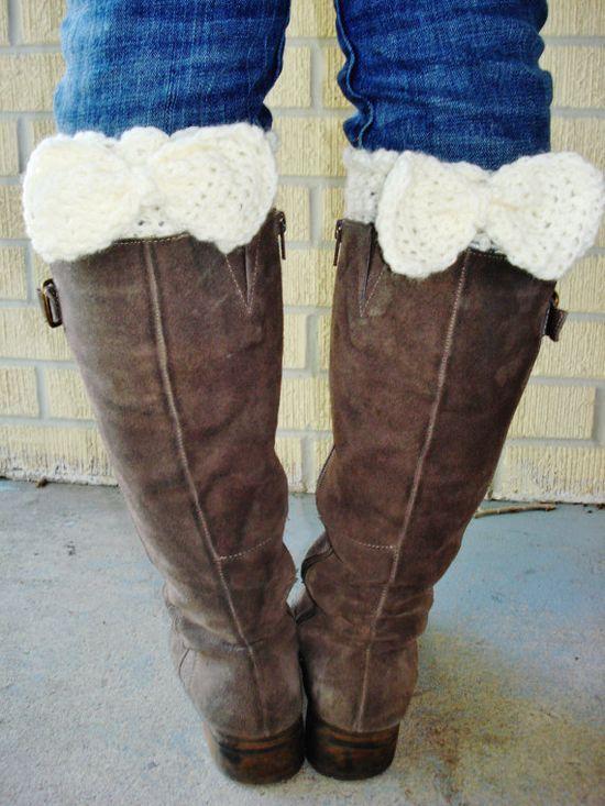 Handmade Bow Crochet Boot Cuff Legwarmer by CherryLaneBowtique, | http://best-amazing-home-designs-images.13faqs.com