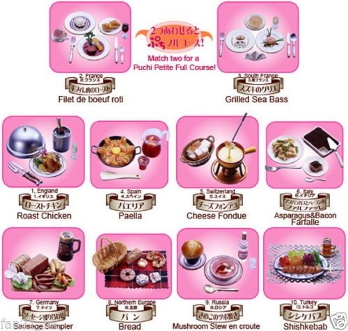 Re-ment Full Set of 13 TEA TIME COLLECTION Barbie Size Miniature Food RARE