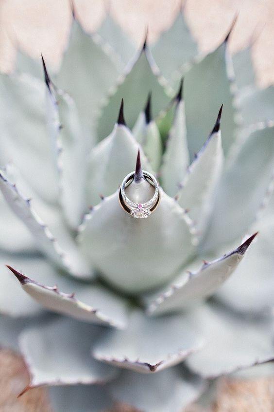 Beautifully Detailed Arizona Wedding from Pinkerton Photography - engagement ring
