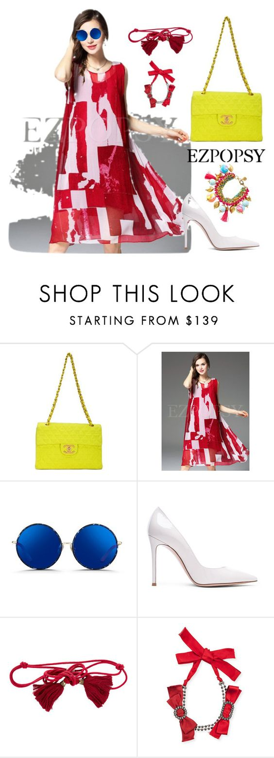 """EZPOPSY"" by ezpopsy-2016ez ❤ liked on Polyvore featuring Chanel, Matthew Williamson, Gianvito Rossi, Lanvin, Lilly Pulitzer, dress, print, summerstyle and ezpopsy"