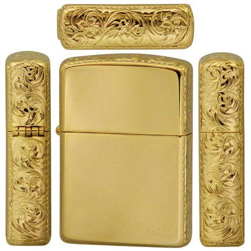 Zippo gold plate