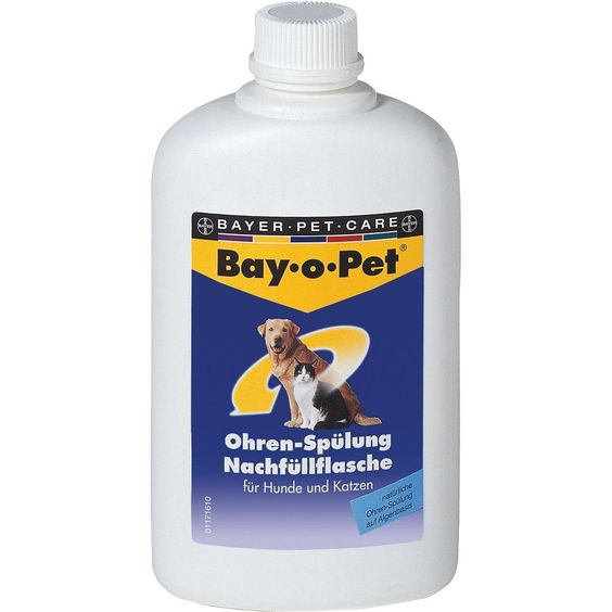 BAY O PET Ohrreiniger Nachfüllfla.f.kl.Hunde-Kat:   Packungsinhalt: 250 ml Flüssigkeit PZN: 07375766 Hersteller: Bayer Vital GmbH GB -…