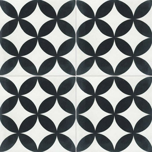 Cr dence cuisine carreau de ciment int rieur palmette for Carrelage damier noir et blanc 20x20