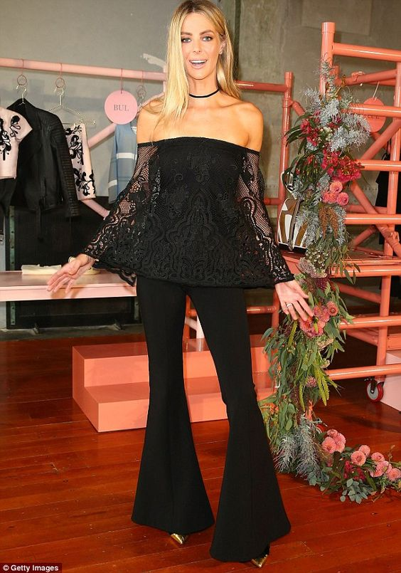 Fit and flare: A natural at working the cameras, Jennifer played on her outfit's strong po...