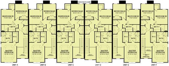6 Plex 4 2nd Floor Apartment House Plan Ideas