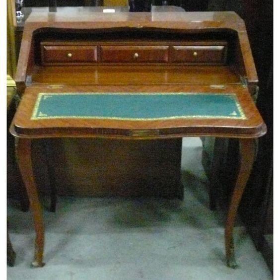Escritorio buro antiguo en madera siglo xx colecci n de - Reparar muebles antiguos ...