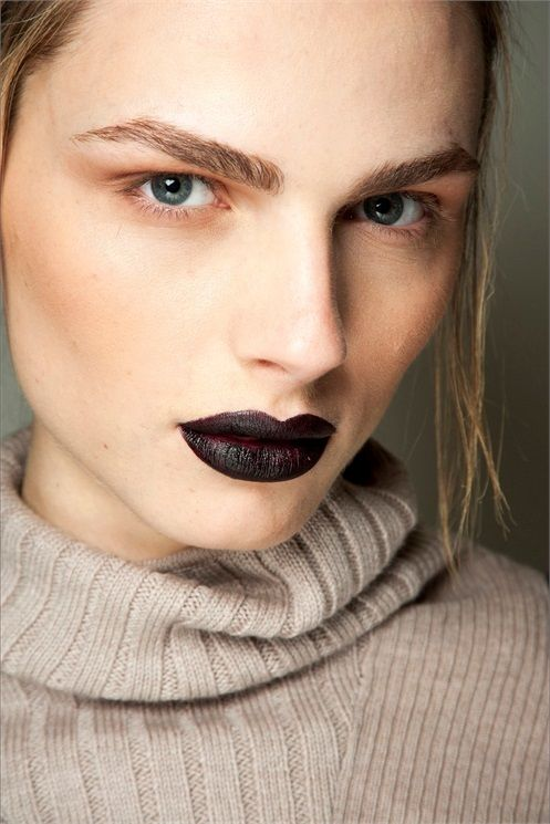 Make up: f/w 2015/16 - Vogue.it dark lips