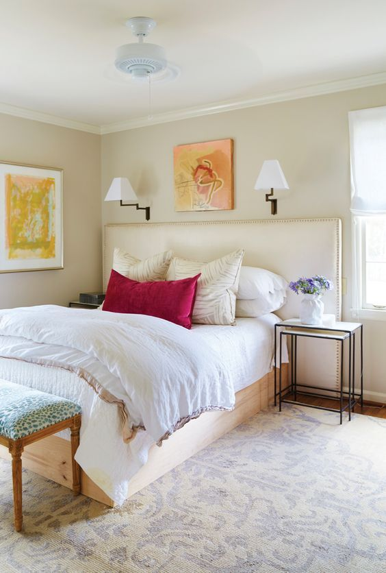 Pin By Estherrobinson On Bedroom Ideas Neutral Bedrooms With Pop Of Color Grey Bedroom With Pop Of Color Redecorate Bedroom