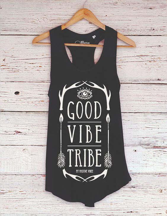 Tapa del tanque de yoga tribu de buena onda por myPositiveVibes