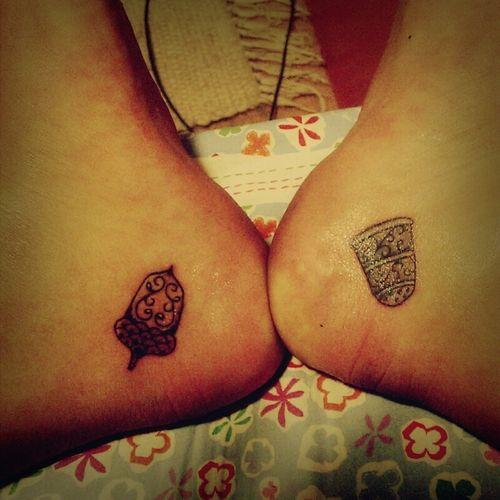 acorn and thimble peter pan tattoo