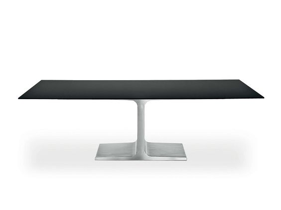 Extending rectangular glass table PALACE EXTENSIBLE by SOVET ITALIA design…