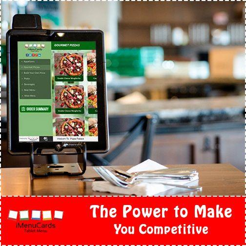 Improve the competitiveness of your restaurant with tablet menu solutions! Know more here: www.imenucards.com  #imenucard #tabletmenu #digitalmenu #restaurant