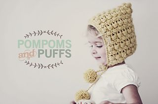 free PomPoms and Puffs Pixie Hat pattern by Katherine Heise