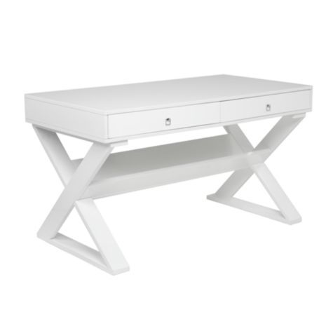 Jett Desk - White Lacquer from Z Gallerie  I think i want this desk for our new home office???