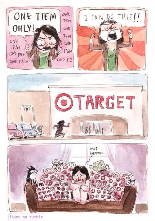 Target shopping - from TheBERRY.com