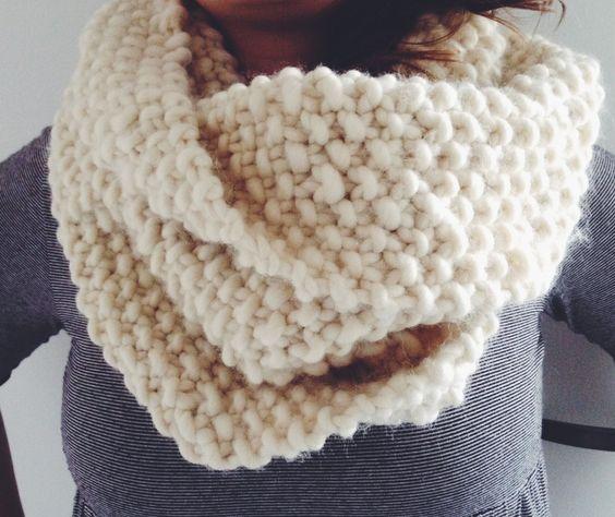 Knitting - Rice stitch - Hand Made Snood