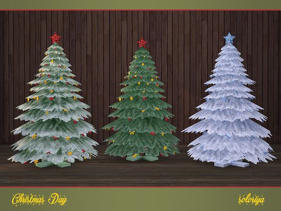 Albero Di Natale The Sims 3.Christmas Tree With A Star And Snowflakes Part Of Christmas Day Set 3 Color Variations Category Decorative Miscellaneous Found In Sims The Sims E Sims 4