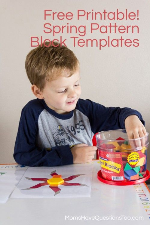 Pattern Blocks Seasons Puzzles - pattern block template