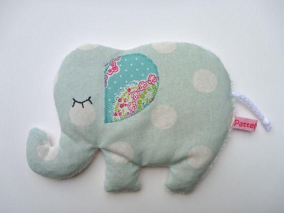 Wärmekissen Elefant Körnerkissen Dinkelkissen von ❄ PatteMouille ❄ auf DaWanda.com