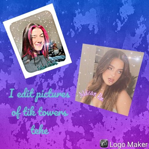 Here Are Some Of The Tik Tokers I Have Edited Editing Pictures Logo Maker Polaroid Film