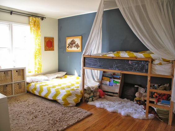 Two bedrooms and a baby tt 39 s montessori room shared boy for Montessori kids room