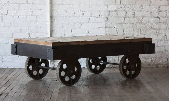 What home doesn't benefit from a touch of industrial? Our Industrial Cart Coffee table will make any room more interesting.