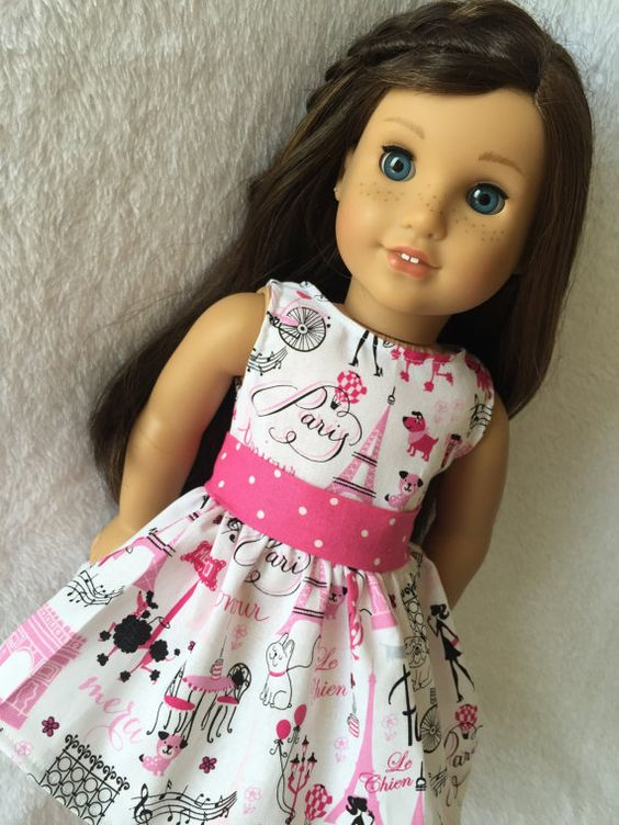 **Shipping discount available on multiple orders!  This outfit will fit your American Girl doll or any similar sized 18 inch doll.  The dress is