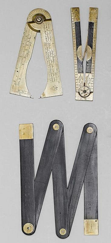 A LOT OF 3 MEASURING INSTRUMENTS, England and France, 18t/ 19th century by Koller Auctions