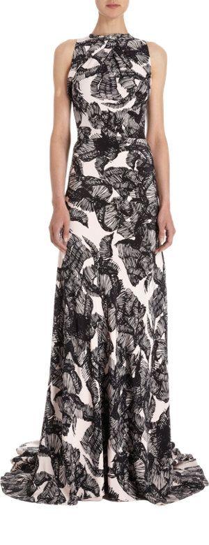 Juan Carlos Obando Twist Yoke Printed Gown at Barneys.com