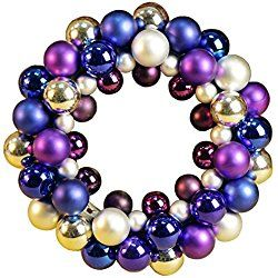 Gorgeous purple wreath in multiple shades and textures - just right for Christmas decorating!