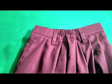 Cara Menjahit Ban Pinggang Karet Pada Rok 2 Youtube Celana Wanita Bisban Celana Pendek Wanita